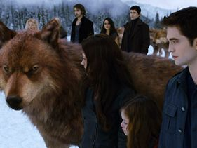 "Kristen Stewart, Mackenzie Foy and Robert Pattinson in ""Breaking Dawn - Part 2"""