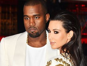 "Kanye West and Kim Kardashian at the ""Cruel Summer"" premiere at Cannes"