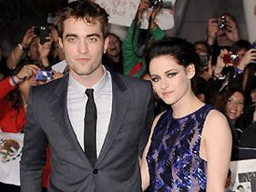 "Robert Pattinson and Kristen Stewart at the premiere of ""The Twilight Saga: Breaking Dawn - Part 1"""