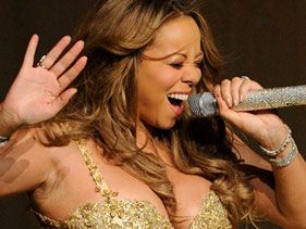 Mariah Carey performs at L.A.'s Gibson Amphitheatre on Tuesday