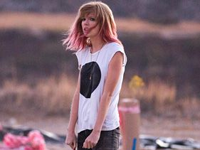 "Taylor Swift on the set of her ""I Knew Your Were Trouble."" music vivdeo"