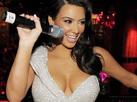 Kim Kardashian celebrate New Years Eve at TAO Nightclub at the Venetian on December 31, 2010 in Las Vegas