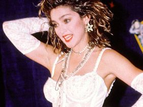 Madonna performs at the 1984 MTV Video Music Awards