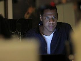 Jay-Z recording <i>Watch The Throne</i>