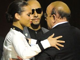 Alicia Keys, Clive Davis and Swizz Beatz