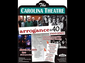 Poster for one of the arrogance at 40 shows