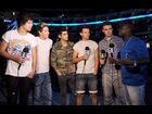 One Direction and Kevin Hart at the 2012 VMA rehearsals.
