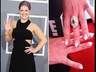 Kelly Osbourne at the 55th annual Grammy Awards in Los Angeles, California on February 10, 2013.