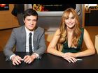 Josh Hutcherson and Jennifer Lawrence at Barnes & Noble Union Square