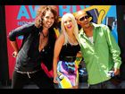 Russell Brand joins Christina Aguilera and T.I. at the 2008 MTV Video Music Awards press conference