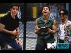 "Bieber kicks it with Walhberg's crew in ""The Basketball Diaries"""