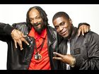 "Snoop Lion and Big K.R.I.T. pose after a great episode of ""RapFix Live"""